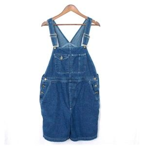 Vintage LL Bean Denim Mom Style Jean Overalls
